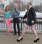 man in high heels